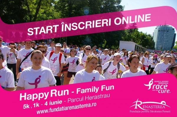 Happy Run – cros caritabil pentru sănătatea femeilor care luptă cu cancerul