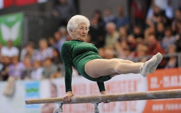 Johanna Quaas, una dintre cele mai în vârstă gimnaste din lume (Foto - Silverfit)
